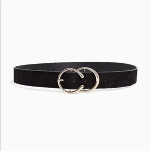 Nwt Torrid Black Double Gold Ring Belt